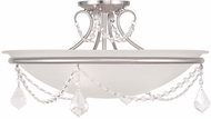 Livex 6525-91 Chesterfield/Pennington Brushed Nickel Flush Mount Lighting Fixture