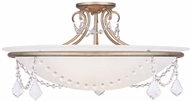 Livex 6526-73 Chesterfield/Pennington Hand Painted Antique Silver Leaf Home Ceiling Lighting