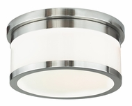 Livex 65502-91 Stafford Brushed Nickel 11.75  Ceiling Light Fixture