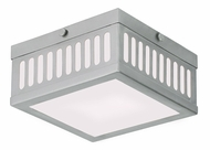 Livex 73162-91 Prentice Brushed Nickel ADA 7.5  Flush Lighting