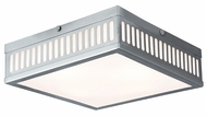 Livex 73164-91 Prentice Brushed Nickel ADA 12.5  Flush Mount Lighting Fixture