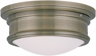 Livex 7341-01 Astor Antique Brass 11  Flush Ceiling Light Fixture