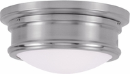 Livex 7341-91 Astor Brushed Nickel 11  Overhead Light Fixture
