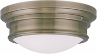 Livex 7343-01 Astor Antique Brass 15.5  Ceiling Lighting Fixture