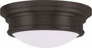 Livex 7343-07 Astor Bronze 15.5  Flush Lighting