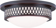 Livex 7353-67 Westfield Olde Bronze 15  Flush Mount Ceiling Light Fixture