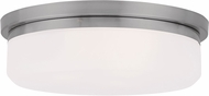 Livex 7392-91 Stratus Brushed Nickel 13  Flush Mount Lighting