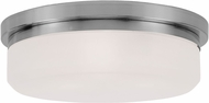 Livex 7393-91 Stratus Brushed Nickel 15.5  Flush Mount Lighting Fixture