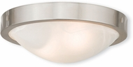 Livex 73951-91 New Brighton Brushed Nickel 12.25  Flush Mount Ceiling Light Fixture