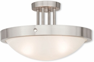 Livex 73956-91 New Brighton Brushed Nickel 16.5  Ceiling Light Fixture