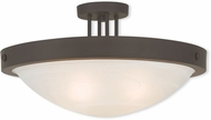 Livex 73957-07 New Brighton Bronze 20.5  Flush Lighting