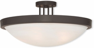 Livex 73958-07 New Brighton Bronze 24  Overhead Lighting