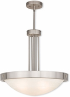 Livex 73964-91 New Brighton Brushed Nickel 20.5  Hanging Pendant Light