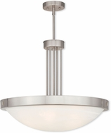 Livex 73965-91 New Brighton Brushed Nickel 24  Hanging Light Fixture
