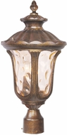 Livex 7659-50 Oxford Traditional Moroccan Gold Exterior Post Light Fixture