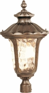 Livex 7664-50 Oxford Traditional Moroccan Gold Exterior Lamp Post Light Fixture