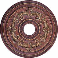 Livex 8200-63 Traditional Verona Bronze with Aged Gold Leaf Accents 22.5 Ceiling Medallion
