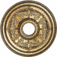 Livex 8200-65 Traditional Hand Painted Vintage Gold Leaf 22.5  Ceiling Medallion