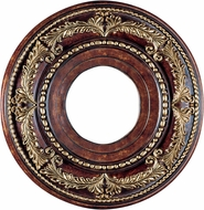 Livex 8204-63 Traditional Verona Bronze with Aged Gold Leaf Accents 12 Ceiling Medallion