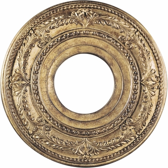 Livex 8204-65 Traditional Hand Painted Vintage Gold Leaf 12  Ceiling Medallion