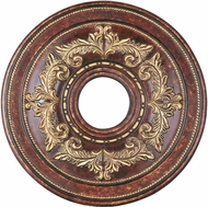 Livex 8205-63 Traditional Verona Bronze with Aged Gold Leaf Accents 18  Ceiling Medallion