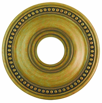 Livex 82073-48 Wingate Hand Painted Antique Gold Leaf 16  Ceiling Medallion