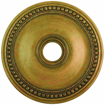 Livex 82075-48 Wingate Hand Painted Antique Gold Leaf 24  Ceiling Medallion