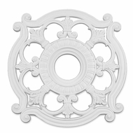 Livex 8216-03 Traditional White 23.5  Medallion