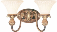 Livex 8422-57 Savannah Traditional Venetian Patina 2-Light Bath Light Fixture