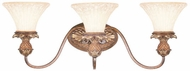 Livex 8423-57 Savannah Traditional Venetian Patina 3-Light Bath Lighting Fixture