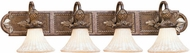 Livex 8455-57 Savannah Traditional Venetian Patina 4-Light Bathroom Light Fixture