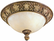 Livex 8458-57 Savannah Traditional Venetian Patina Flush Mount Light Fixture