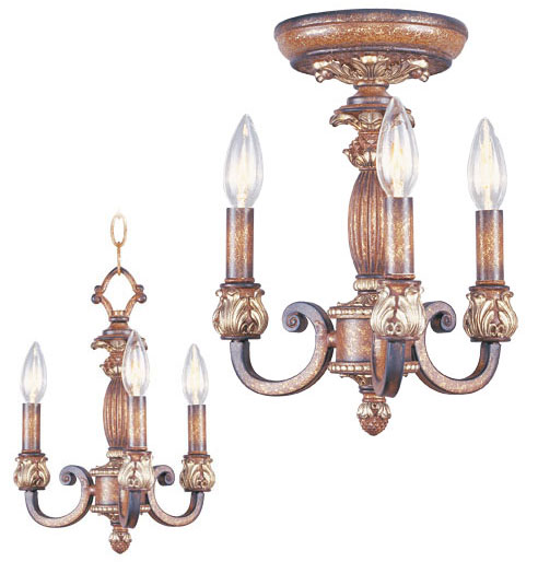Livex 846157 Savannah Traditional Venetian Patina Mini Chandelier
