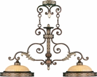 Livex 8522-64 Seville Traditional Palacial Bronze with Gilded Accents Kitchen Island Light