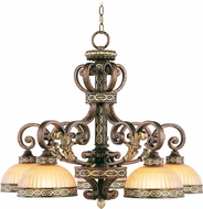 Livex 8525-64 Seville Palacial Bronze with Gilded Accents Chandelier Lighting