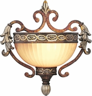Livex 8540-64 Seville Traditional Palacial Bronze with Gilded Accents Wall Sconce Lighting