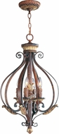 Livex 8556-63 Villa Verona Verona Bronze with Aged Gold Leaf Accents 16  Foyer Lighting