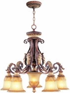Livex 8575-63 Villa Verona Verona Bronze with Aged Gold Leaf Accents Lighting Chandelier