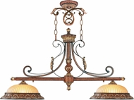 Livex 8582-63 Villa Verona Verona Bronze with Aged Gold Leaf Accents Kitchen Island Lighting