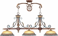 Livex 8584-63 Villa Verona Verona Bronze with Aged Gold Leaf Accents Kitchen Island Light