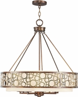 Livex 8678-64 Avalon Palacial Bronze with Gilded Accents ADA 26  Drum Hanging Light