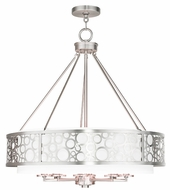 Livex 86798-91 Avalon Brushed Nickel 26  Drum Hanging Pendant Lighting