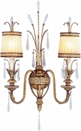 Livex 8802-65 La Bella Hand Painted Vintage Gold Leaf Wall Lighting Sconce
