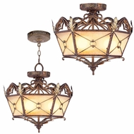 Livex 8824-64 Bristol Manor Traditional Palacial Bronze with Gilded Accents Drop Ceiling Lighting / Overhead Light Fixture