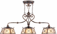 Livex 8828-64 Bristol Manor Traditional Palacial Bronze with Gilded Accents Island Lighting