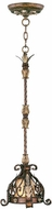Livex 8840-64 Pomplano Traditional Palacial Bronze with Gilded Accents Mini Pendant Hanging Light