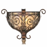Livex 8841-64 Pomplano Traditional Palacial Bronze with Gilded Accents Wall Lighting Fixture