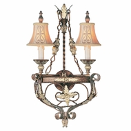 Livex 8842-64 Pomplano Traditional Palacial Bronze with Gilded Accents Wall Light Sconce