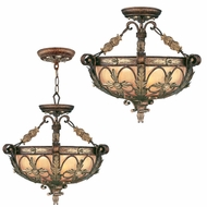 Livex 8843-64 Pomplano Traditional Palacial Bronze with Gilded Accents Ceiling Light Pendant / Overhead Lighting Fixture