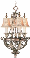 Livex 8844-64 Pomplano Traditional Palacial Bronze with Gilded Accents Mini Chandelier Light